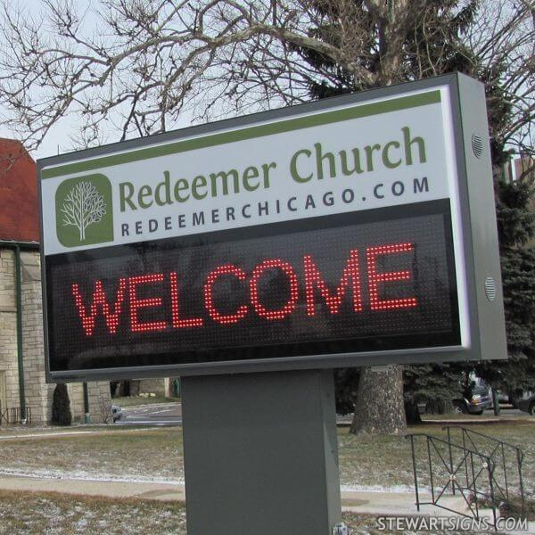 Church Sign for Redeemer Church