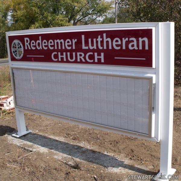 Church Sign for Redeemer Lutheran Elca