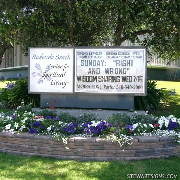 Church Sign for Center For Spiritual Living