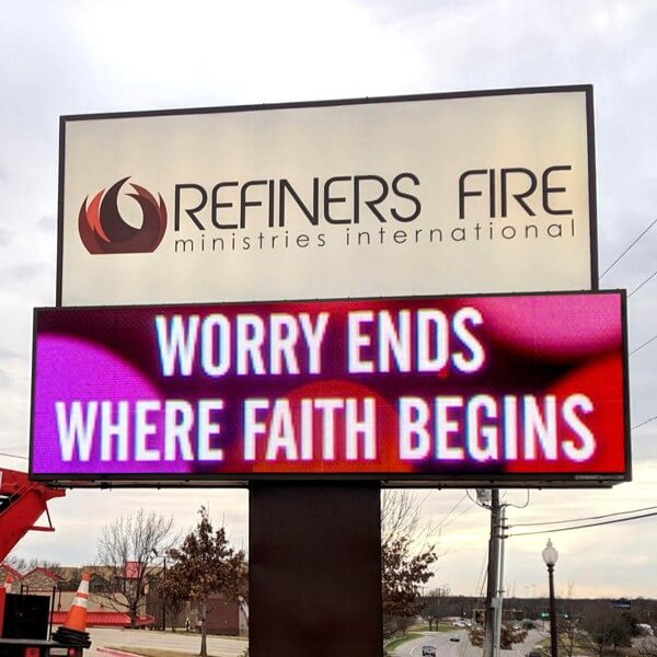Church Sign for Refiners Fire Ministry
