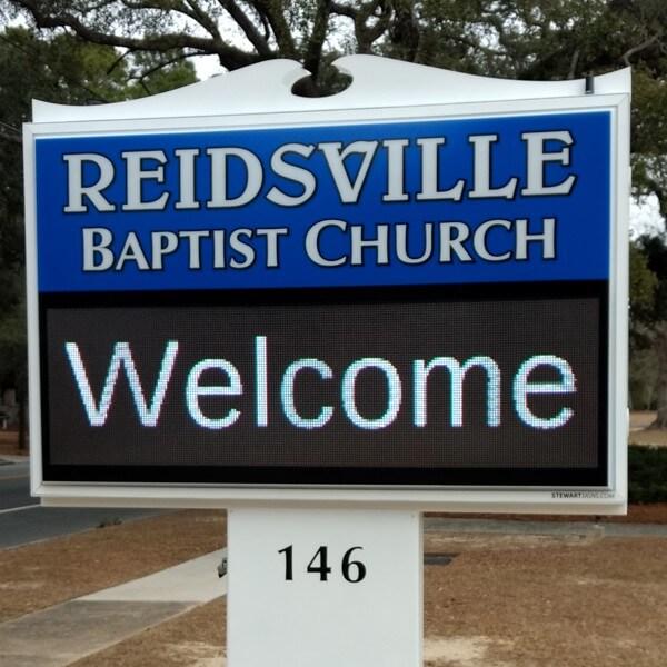 Church Sign for Reidsville Baptist Church