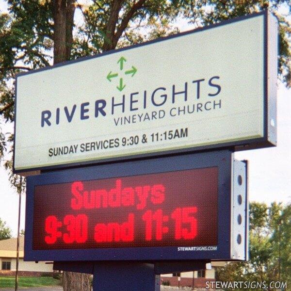 Church Sign for River Heights Vineyard Church