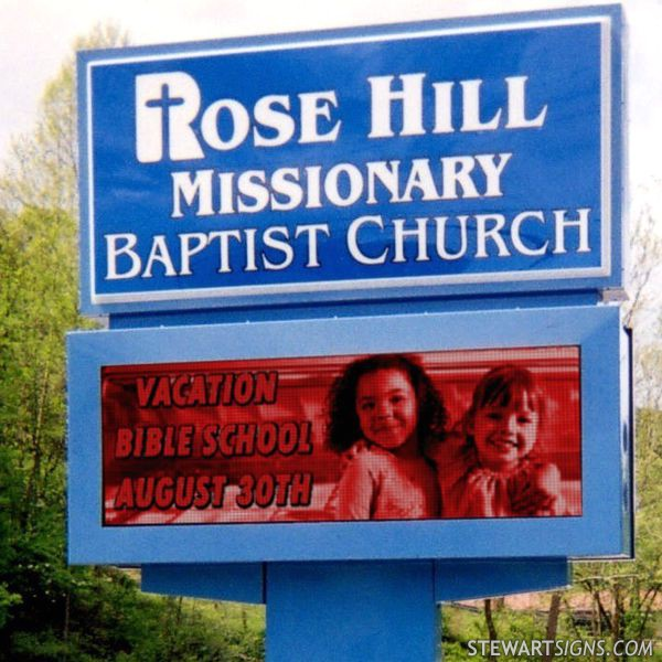 Church Sign for Rose Hill Missionary Baptist Church
