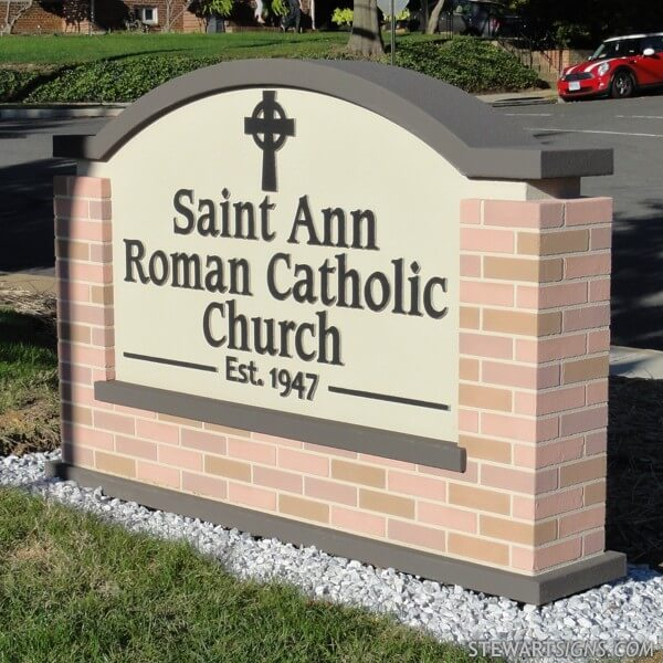 Church Sign for Saint Ann Roman Catholic Church