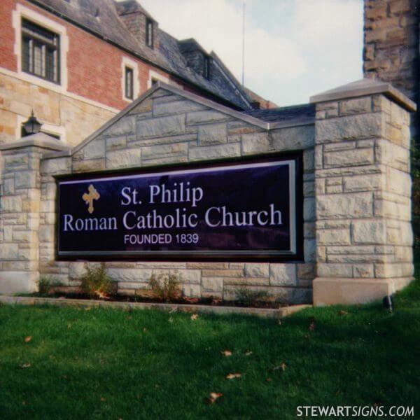 Church Sign for Saint Philip Catholic Church