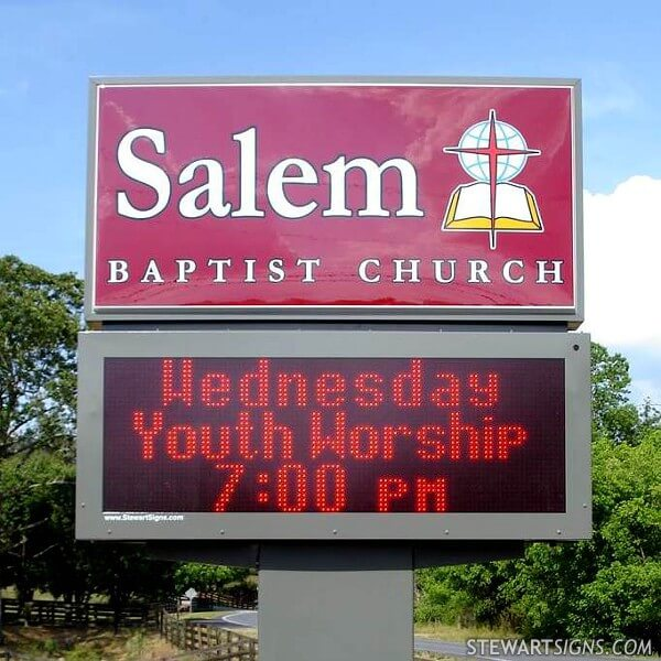 Church Sign for Salem Baptist Church