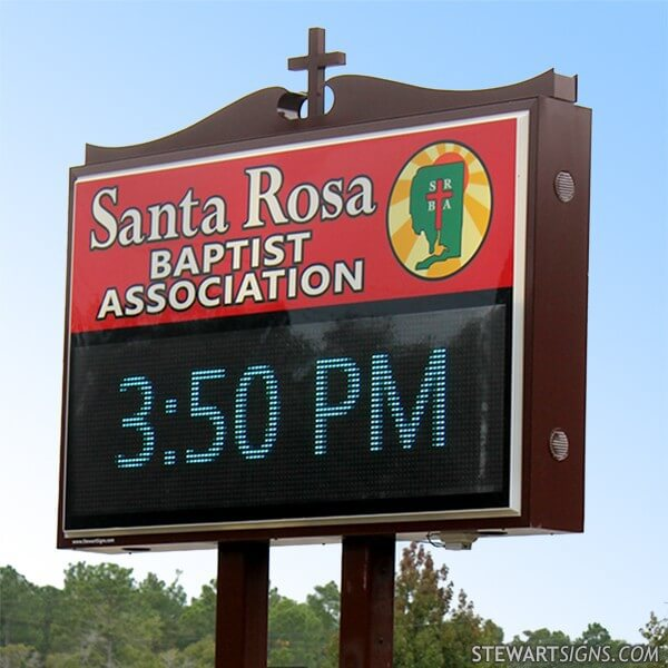 Church Sign for Santa Rosa Baptist Association