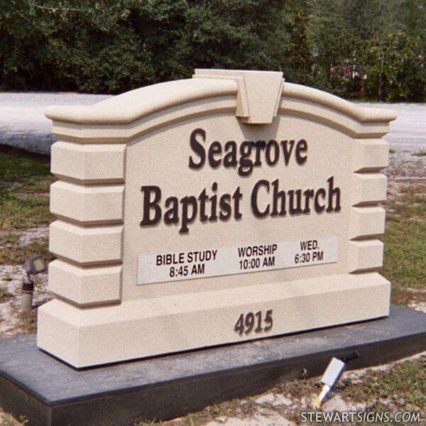Church Sign for Seagrove  Baptist Church
