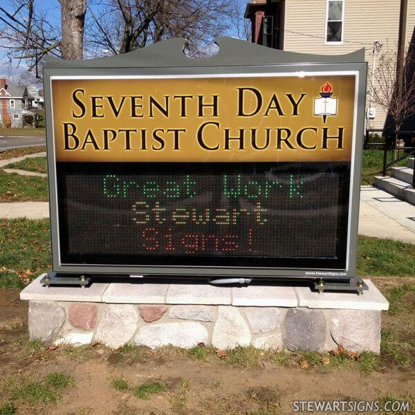 Church Sign for Seventh Day Baptist Church