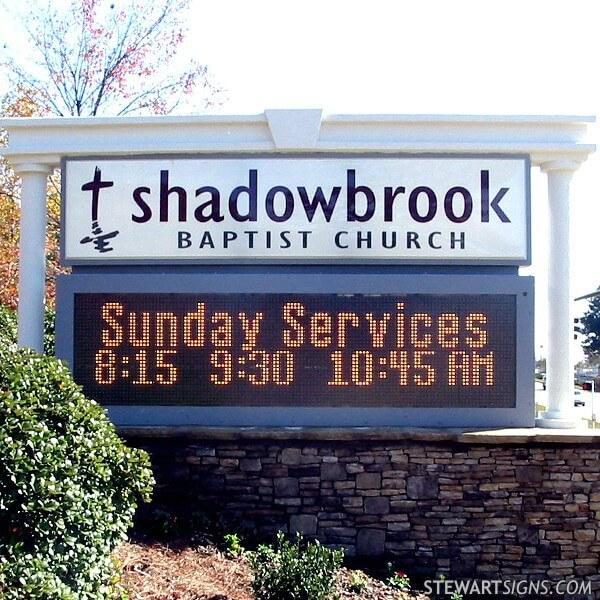 Church Sign for Shadowbrook Baptist Church
