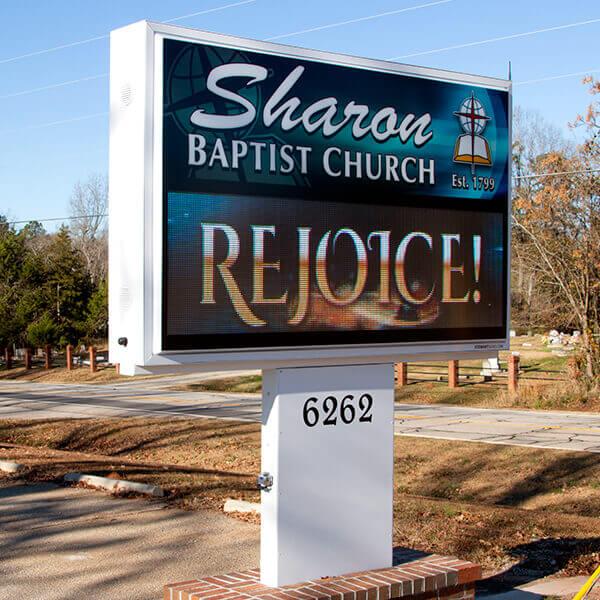 Church Sign for Sharon Baptist Church