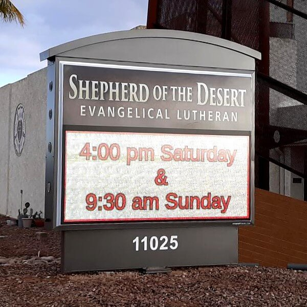 Church Sign for Shepherd Of The Desert Lutheran Church
