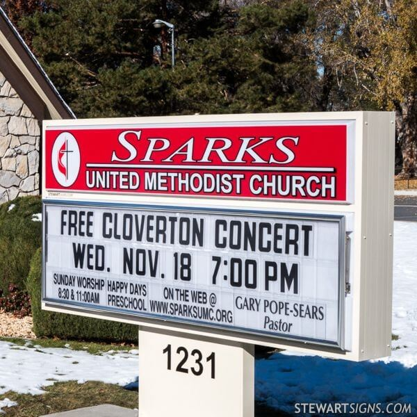 Church Sign for Sparks United Methodist Church