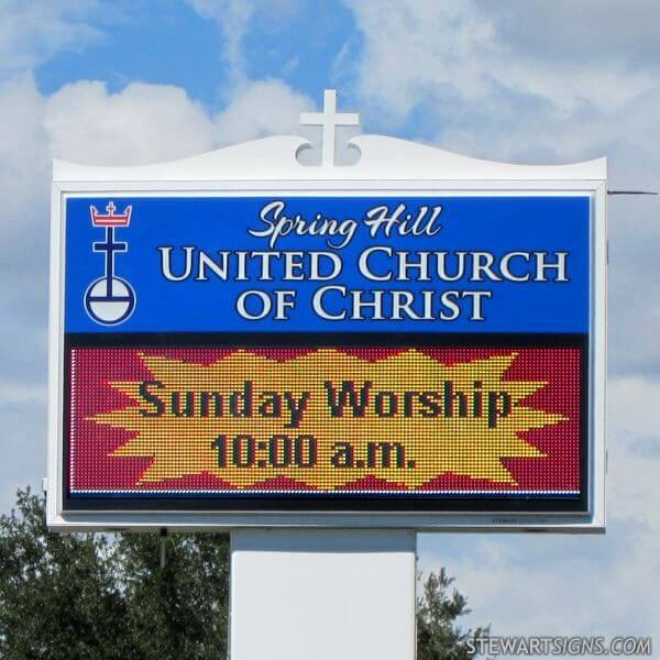 Church Sign for Spring Hill United Church Of Christ