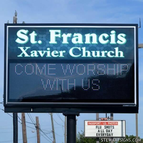 Church Sign for St. Francis Xavier Church