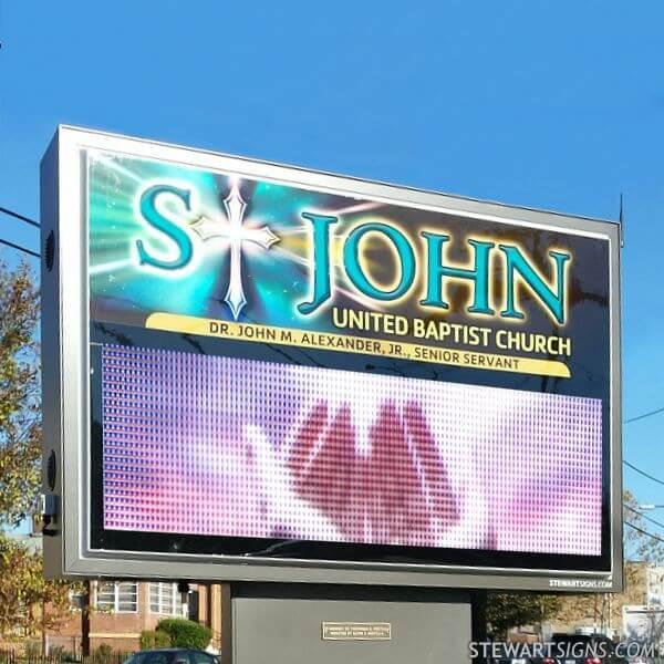 Church Sign for St. John United Baptist Church