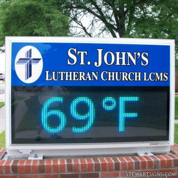 Church Sign for St. John's Lutheran Church