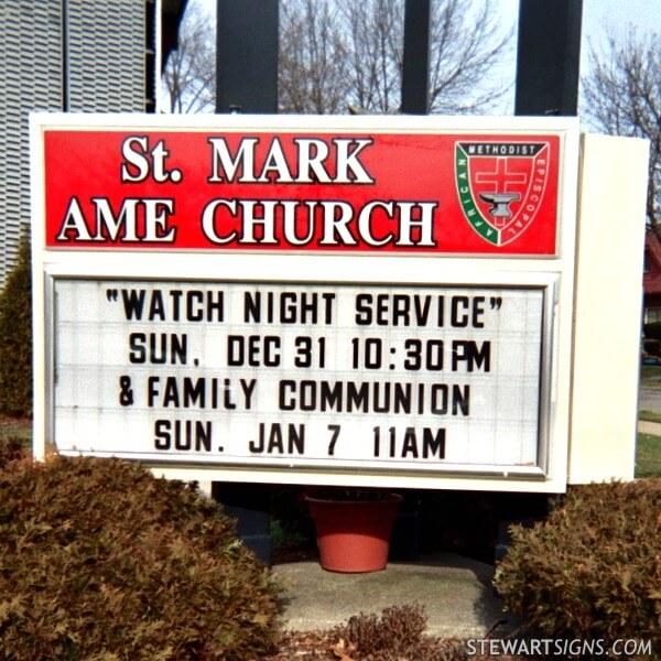 Church Sign for Saint Mark A M E Church