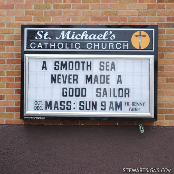 Church Sign for St. Michael's Catholic Church