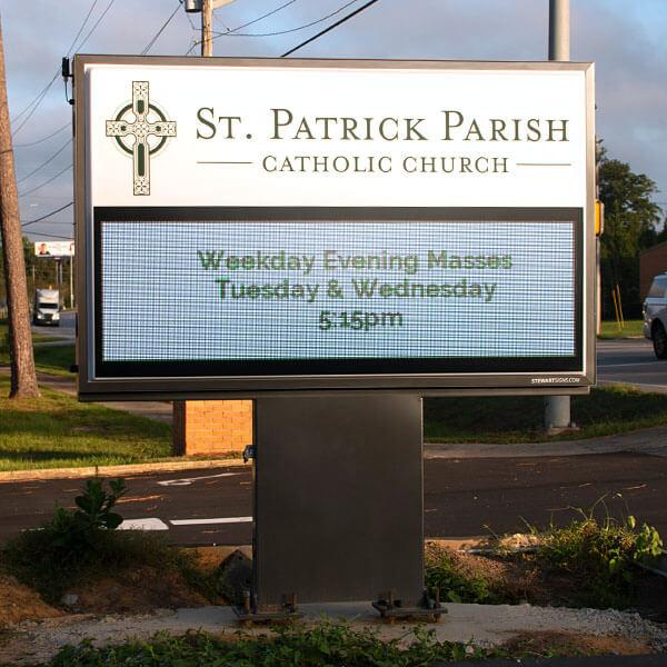 Church Sign for St Patrick's Church