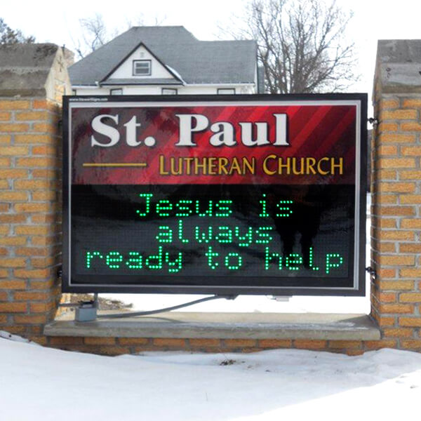 Church Sign For St Paul Lutheran Church And School