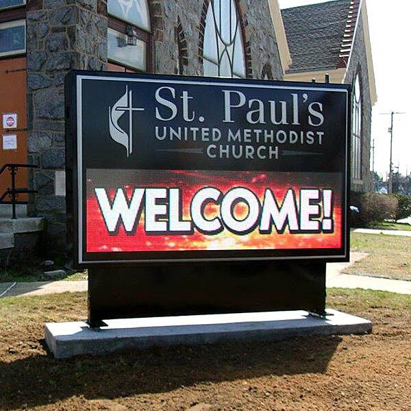 Church Sign for St. Paul's United Methodist Church