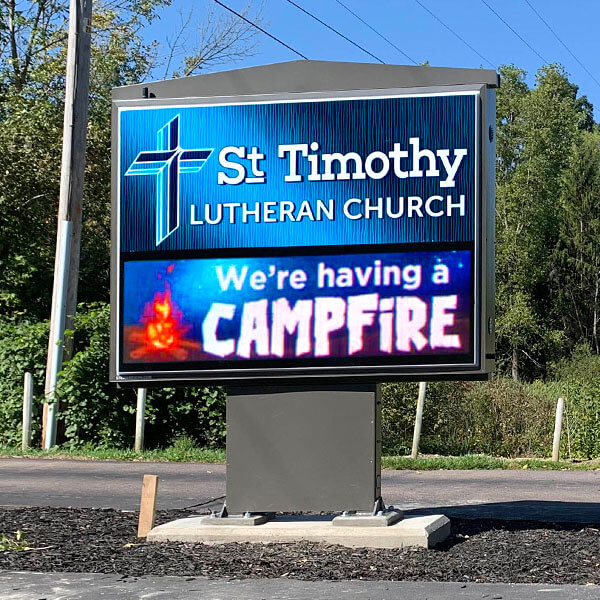 Church Sign for St Timothy Lutheran Church Otisville