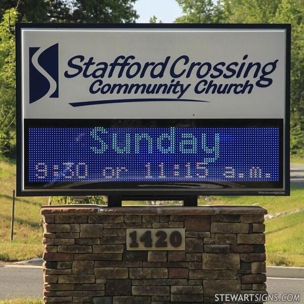 Church Sign for Stafford Crossing Community Church