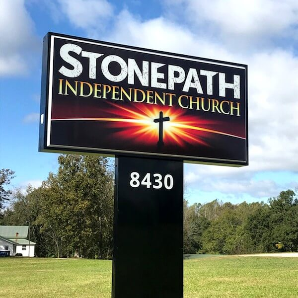 Church Sign for Stonepath Independent Church