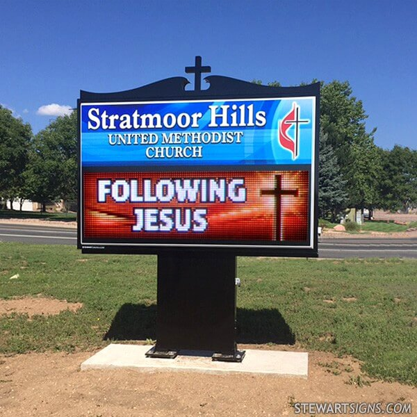Church Sign for Stratmoor Hills United Methodist Church