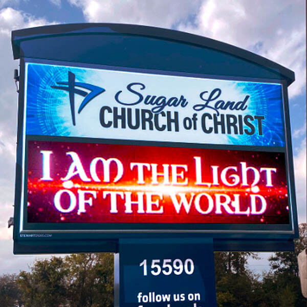 Church Sign for Sugar Land Church Of Christ