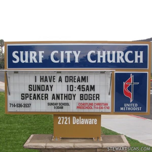 Church Sign for Surf City Church