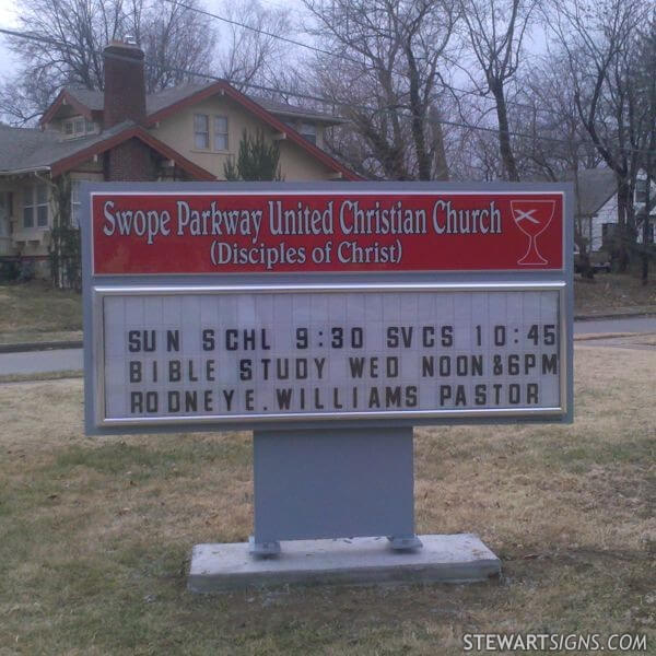 Church Sign for Swope Parkway United Christian Church