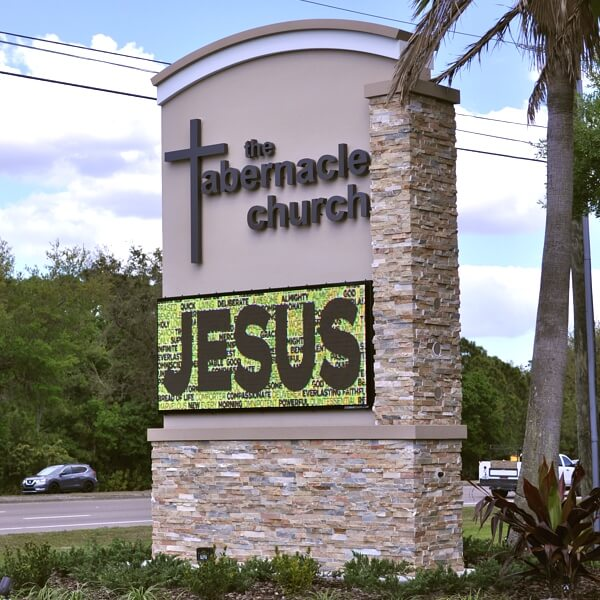 Church Sign for The Tabernacle Church