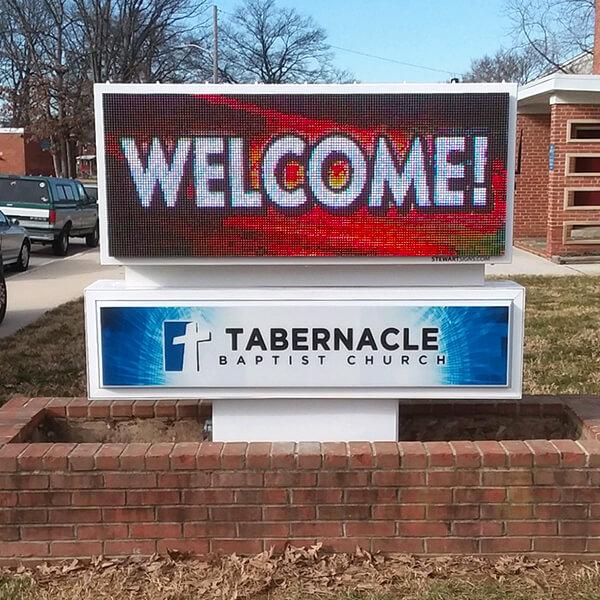 Church Sign for Tabernacle Baptist Church