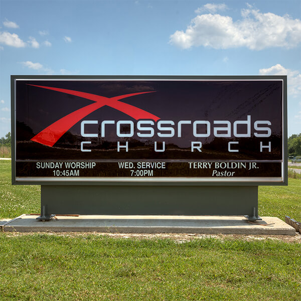 Church Sign for Tanner Crossroads Free Will Baptist Church
