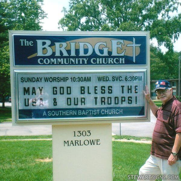 Church Sign for The Bridge Community Church