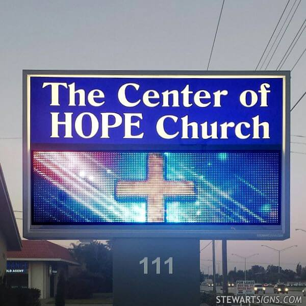 Church Sign for The Center Of Hope Church