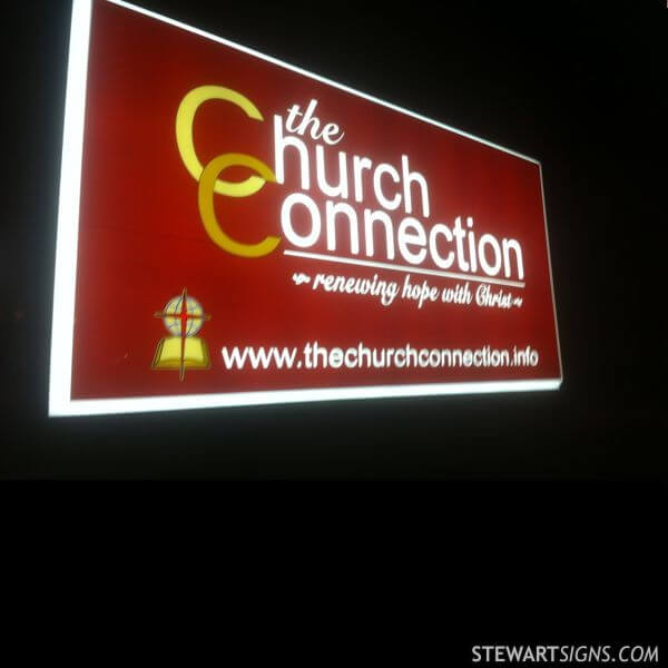 Church Sign for The Church Connection