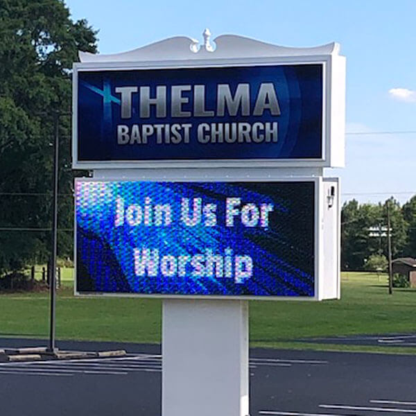 Church Sign for Thelma Baptist Church