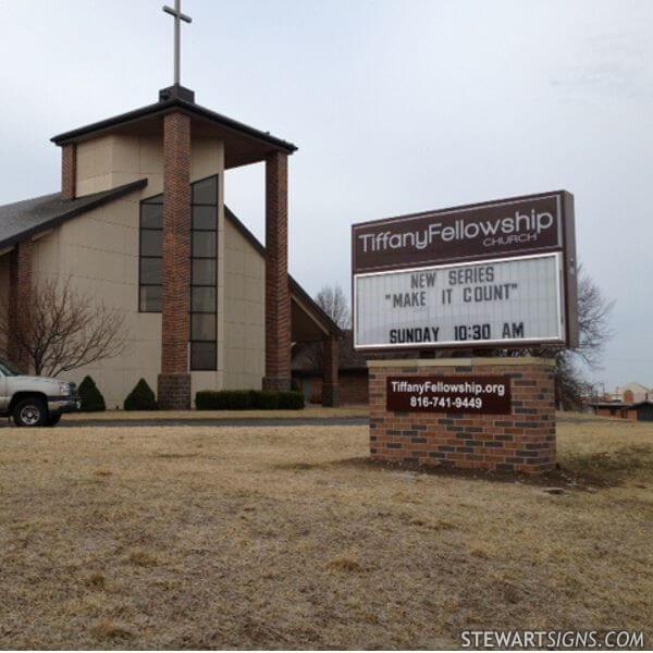 Church Sign for Tiffany Fellowship