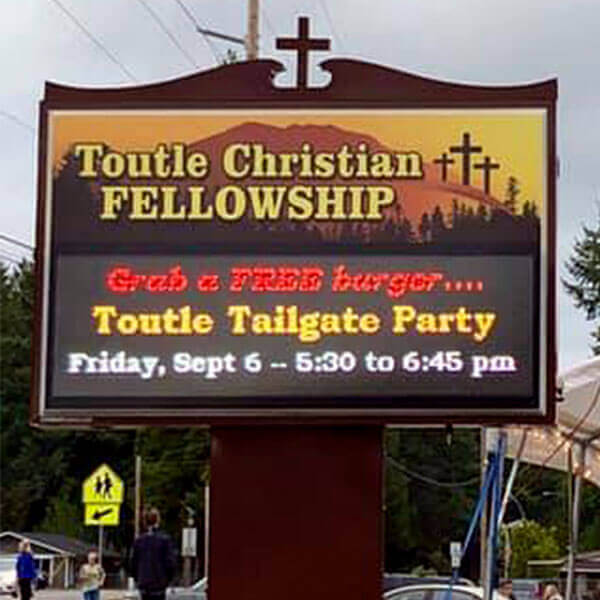 Church Sign for Toutle Christian Fellowship