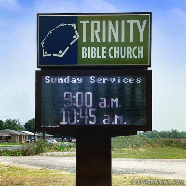 Church Sign for Trinity Bible Church