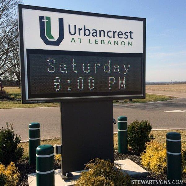 Church Sign for Urbancrest Baptist Church