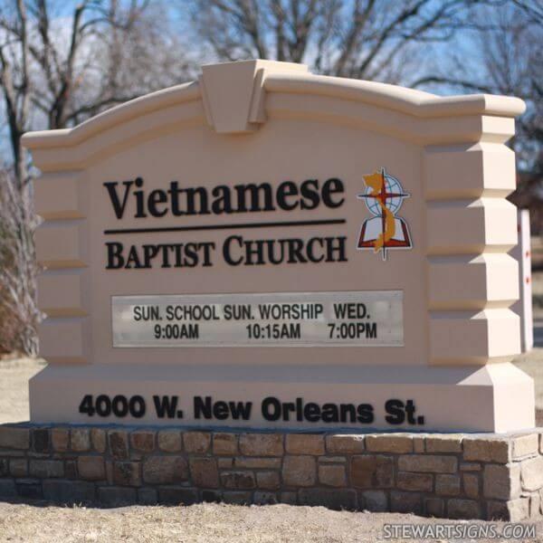 Church Sign for Tulsa Vietnamese Baptist Church