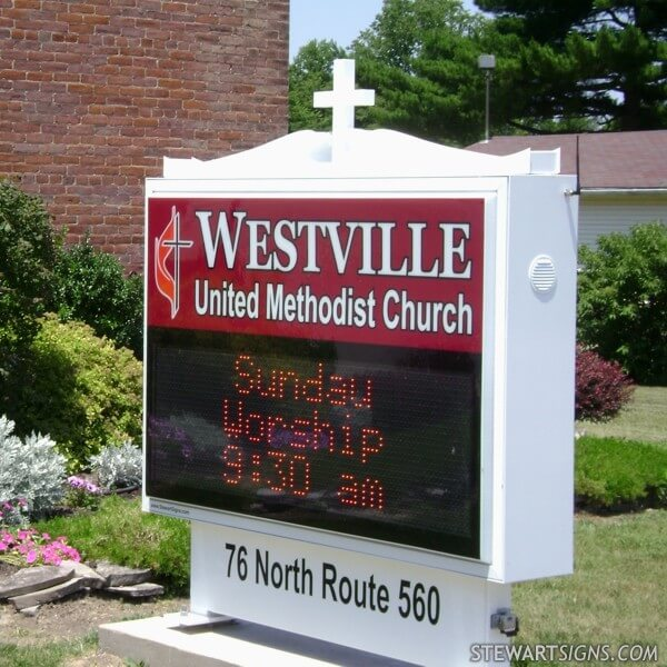 Church Sign for Westville United Methodist Church