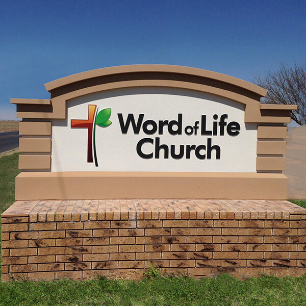 Church Sign for Word Of Life Church