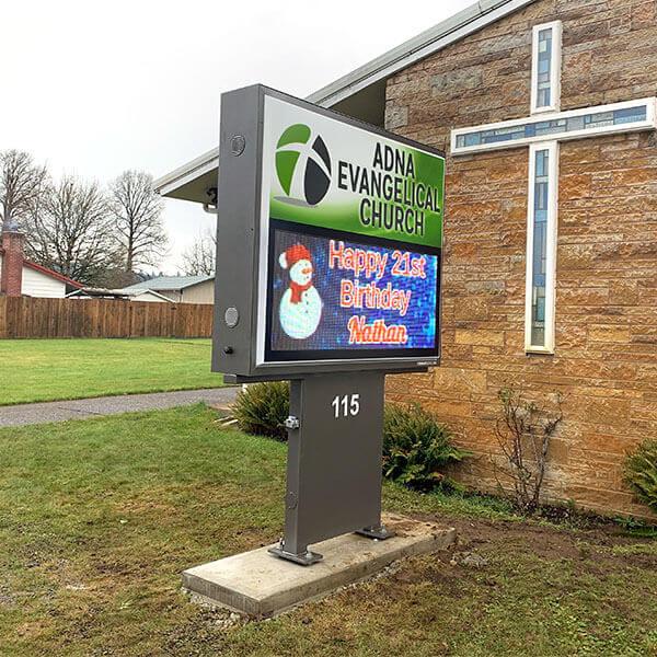 Church Sign for Adna Evangelical Church