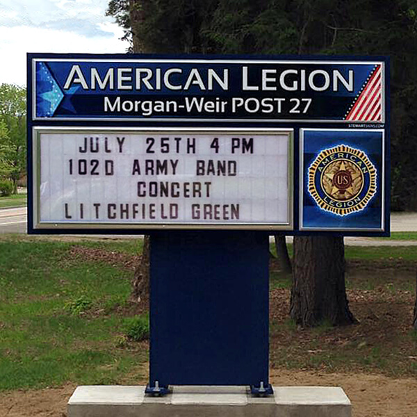 Civic Sign for American Legion Post 27