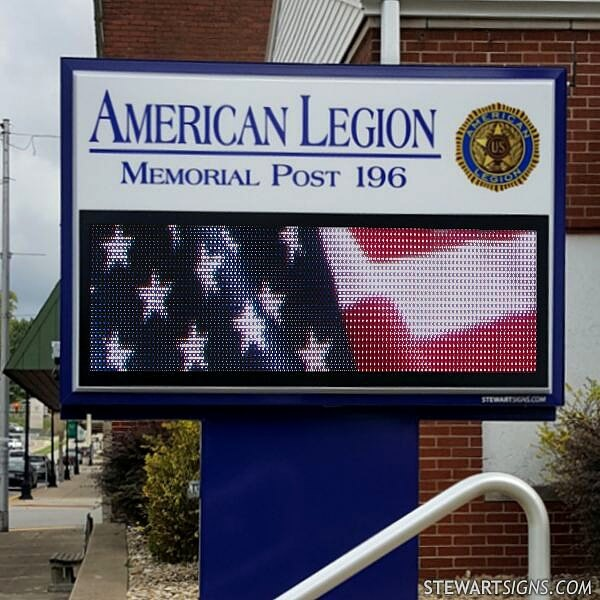 Civic Sign for American Legion Post 196